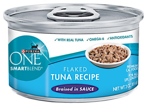 Purina ONE Cat Food Flaked Tuna Recipe Braised in Sauce, 3-Ounce (Pack of 24), My Pet Supplies