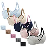 Nursing Bra,Womens Maternity Breastfeeding Bra Wireless Sleeping Bralette with Extenders,M Size
