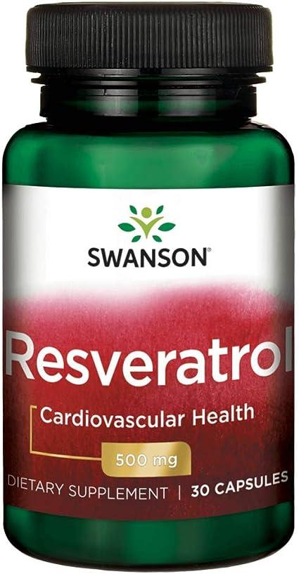 Amazon Com Swanson Resveratrol 500 500 Milligrams 30 Capsules