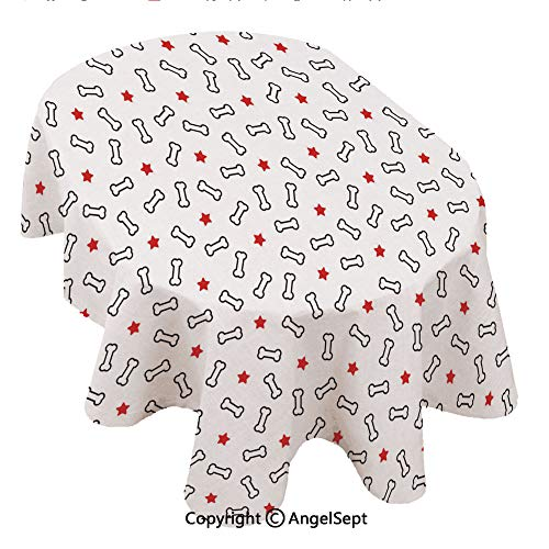 Covers for The Home Deluxe Elastic Edged,Dog Bone Seamless paern SAR ecor French Bulldog Puppy ILE Background repea Wallpaper Scarf i 60x120inch,Backed Vinyl Fitted Table Cover - Medallion Pattern - (Medallion Stretch)