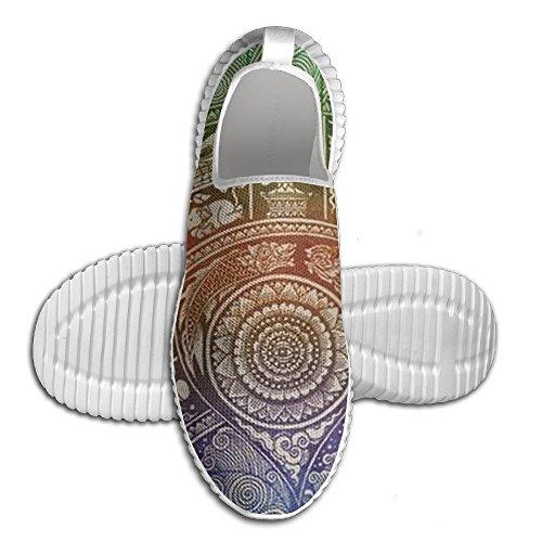 Buda Hamsa Cool Running Zapatos Durable Unisex De Comedor Elástico Sneakers Para Big Boys Blanco