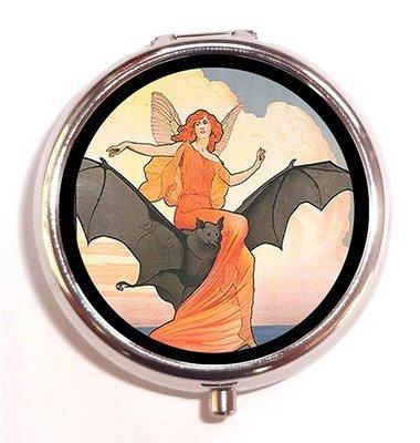 Art Nouveau Fairies (Art Nouveau Victorian Fairy Woman Riding Bat Goth Vampire Pill Box Pillbox)