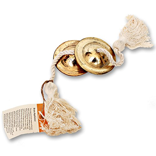 (De Kulture Works Hand Made Brass Manjeera Percussion Instrument/Finger Cymbal/Metal Clapper)