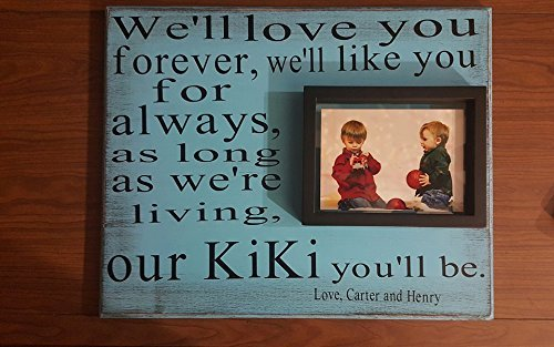 love you forever 16x20 wall plaque with 8x6 float frame mothers day gifts grandparents gift teachers