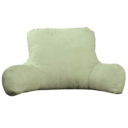 Backrest Pillow Large Firmly Stuffed Sitting Support Bed Pillow With Arms For Comfort While Reading Relaxing Foam Filled For Adults Teens