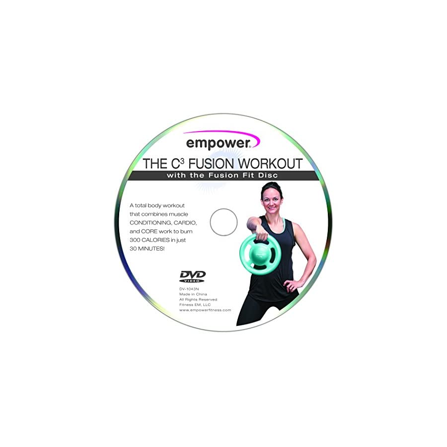 Empower Grip Plate Weighted Fit Disc, Kettlebell, Dumbbell, 3 in 1 Weight Set, Medicine Ball with Handles