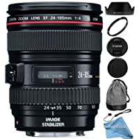Canon EF 24-105mm f/4 L IS USM Lens (White Box) + RND Lens Accessory Kit For Canon 6D 5D Mark II 5D Mark III SL1 T5i T5 T4i T3i T3 60D 70D T2i T1i Xsi XS DSLR Cameras