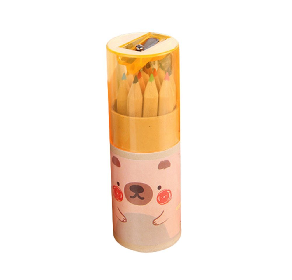 Da.WA 12pezzi colorati di legno matita carino mini matite temperamatite cancelleria scuola forniture per bambini