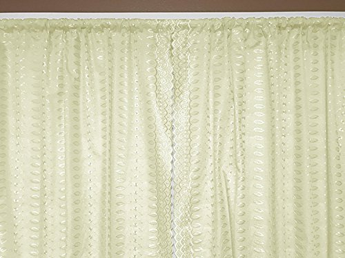 lovemyfabric Eyelet Widow Treatment Panel Scalloped Sides/Embroidered Decorative Curtain/Backdrop-(2 Piece Set) (42