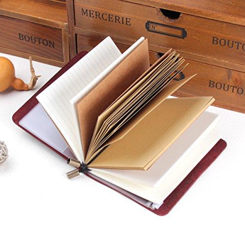 Robrasim Vintage Refillable Handmade Traveler's Notebook - Leather Journal Notebook - Pocket 5.2