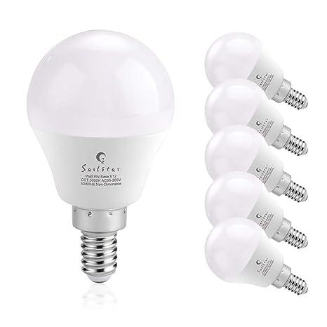 Sailstar Candelabra Led Light Bulbs 60 Watt Equivalent Daylight
