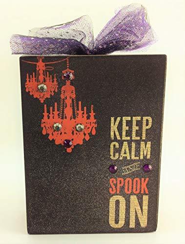AG Designs Halloween Decor - Box Sitter Keep Clam Spooky On -