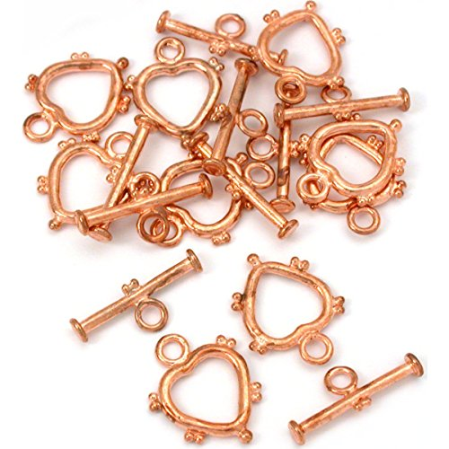 (Bali Heart Toggle Clasp Copper Plated New 21mm Approx 8)