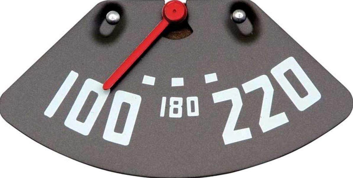 ORE 1947-1949 Chevy Pickup Truck 6 Cyl Temperature Gauge 100-220 Degrees