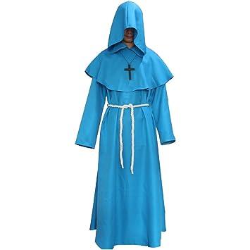 LUOEM Disfraz de monjes Medievales de Halloween Disfraz de ...