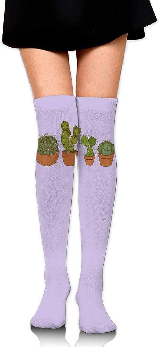 High Elasticity Girl Cotton Knee High Socks Uniform Carrot Pattern Women Tube Socks
