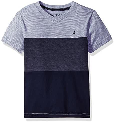 Nautica Boys' Jersey Pieced V-Neck Tee Shirt