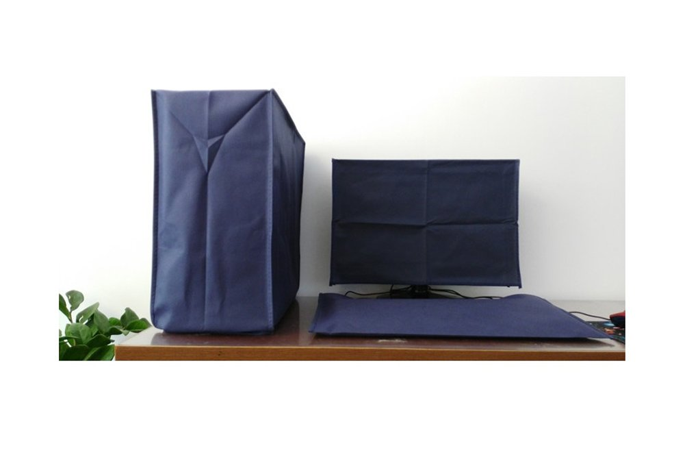 Computer Dust Cover, Monitor Keyboard CPU Tower Case Protector, 3 Pieces Set Non-woven Fabric Dust Proof Covers for Desktop PC (3 sets for 19'' monitor)