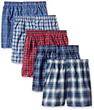 Fruit of the Loom Baby Boys' Woven Boxers, 5 pack - Tartan Plaids - Medium
