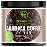 Exfoliating Arabica Coffee Body Scrub - Best Exfoliator Sea Salt Olive Oil