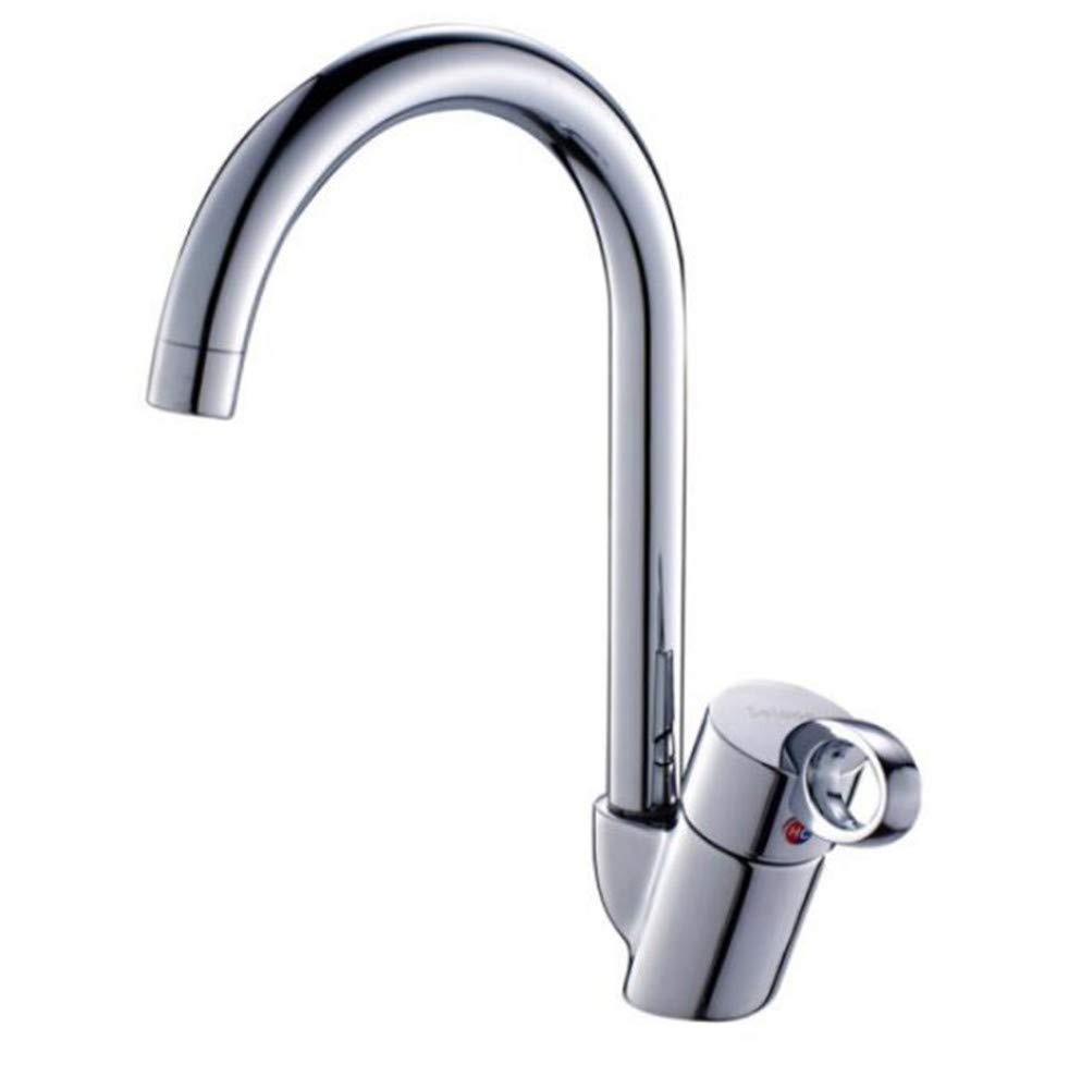 Faucet Waste Mono Spoutbathroom Copper Single Hole Sink Faucet Hot and Cold Stainless Steel Sink Kitchen Faucet