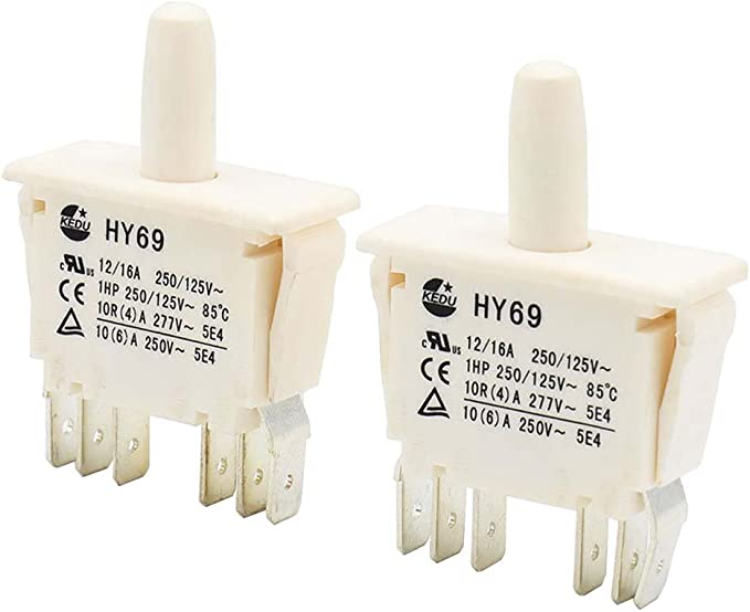 KEDU HY67 Replacement Push Button On-On Switch for Household Electrical