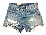 Denim & Supply Ralph Lauren Womens Denim Destroyed Cutoff Shorts Blue 25