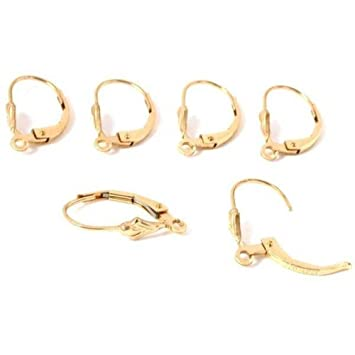 Amazoncom 6 14k Gold Filled Lever Back Earrings Jewelry Parts