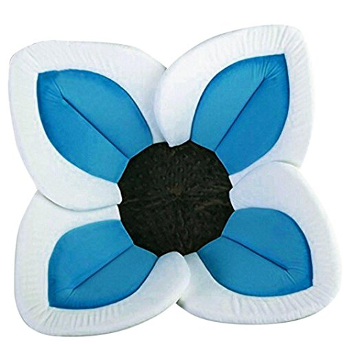 VERNASSA Newborn Small Baby Bath Cute Foldable Plush Blooming Flower Baby Bath with Soft Comfortable Foam Image