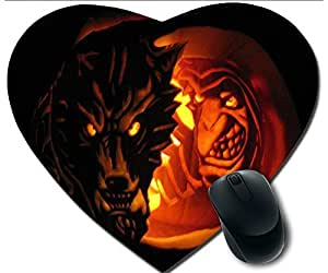 Hot Heart-Shaped Comfortable Mouse Pad - Customizable Printed On Halloween And Clown Face Durable Cool Game Mouse Pad