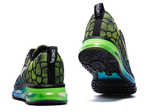 Onemix Womens Air Cushiong Scarpe Da Corsa, Sneakers Sportive Leggere Blu Cielo / Verde