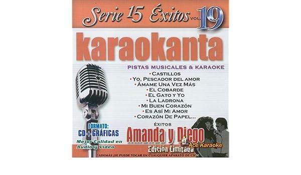 Amazon.com: Karaokanta KAR-1519 - Al Estilo de Amanda y Diego Edicion Limitada Spanish CDG: Musical Instruments