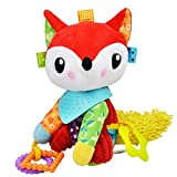 Baby Infant Pram Car Stroller Hanging Rattles Plush Toy Soft Teether Chew Doll - Fox