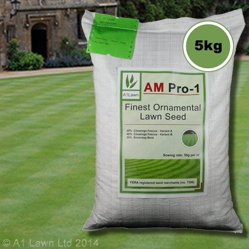 5kg Top Quality Grass Seed / Lawn Seed - (A1LAWN AM Pro-1 Finest Luxury / Ornamental) - covers approx. 100 sq metres - DEFRA registered