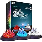 Mini Explorer Light-up Crystal Growing Kit - Grow Your Own Crystals and Make Them Glow! Great Science Expirement Gift for Kids, Boys & Girls | STEM Toys | Crystal Making