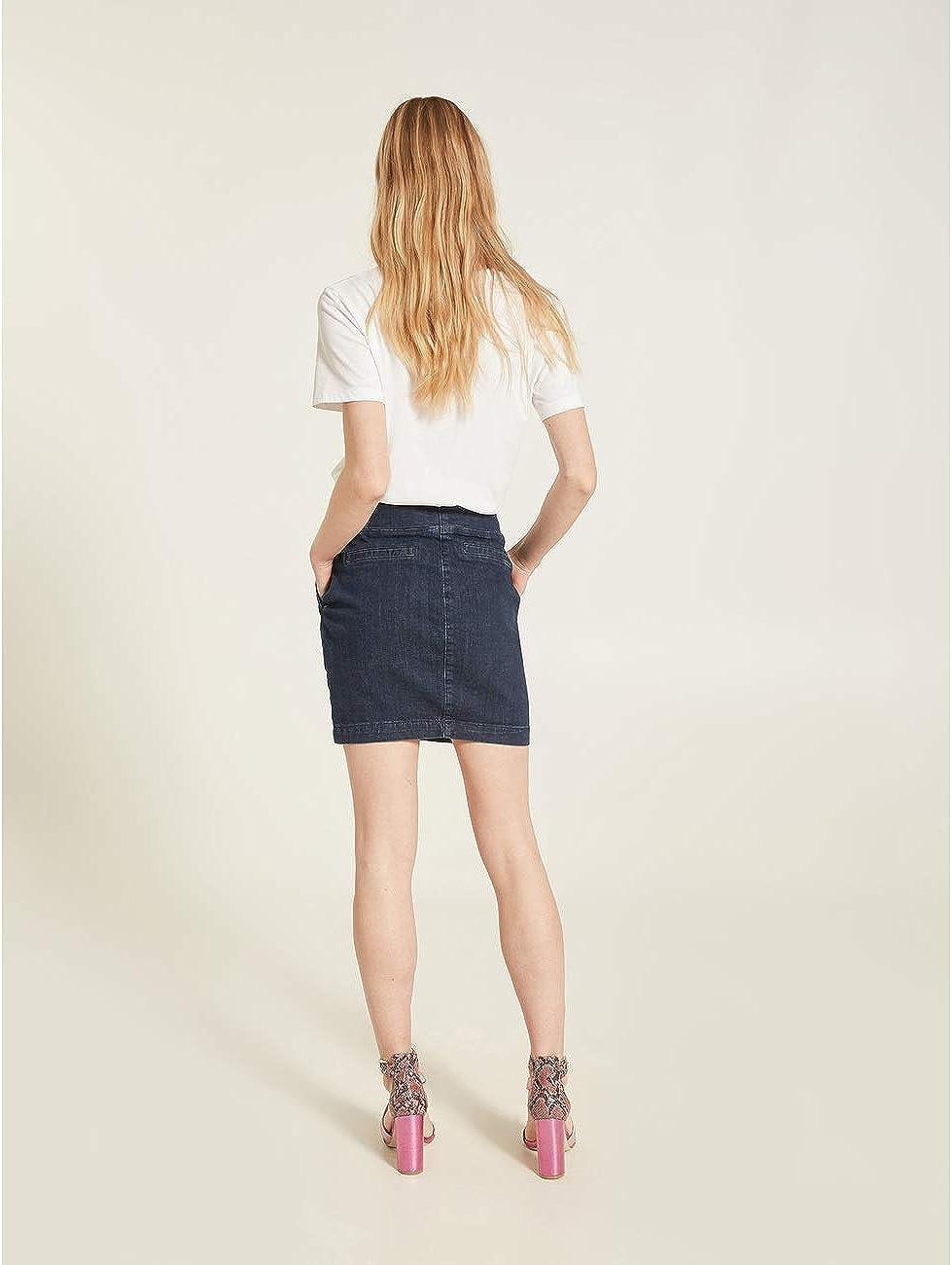 Motivi Minigonna in Jeans Baschina Italian Size