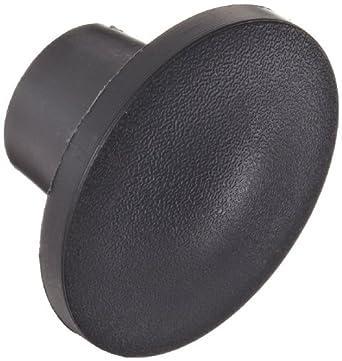 "DimcoGray Black Thermoplastic Push-Pull Knob Female, Brass Insert: 1/4-20"" Thread x 7/16"" Depth, 1-3/8"" Diameter x 7/8"" Height x 5/8"" Hub Dia x 5/8"" Hub Length (Pack of 10)"