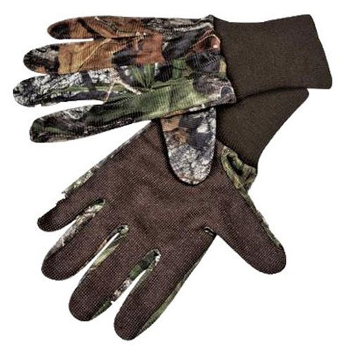 Mossy Oak Mesh Gloves with Grip Palm (Obsession, (Mossy Oak Lightweight Gloves)