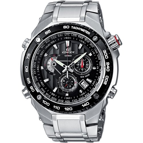 11664956bb95 Casio Edifice EF-500D-1AVEF Men s Analog Quartz Watch with Chronograph and  Steel Bracelet