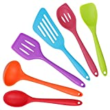 Kitchen Utensils Cooking Set, Home-Best-Buy 6 pcs Premium Heat Resistant and Non-Stick Silicone Kitchen Cooking/Baking Tools Set (Multicolor)