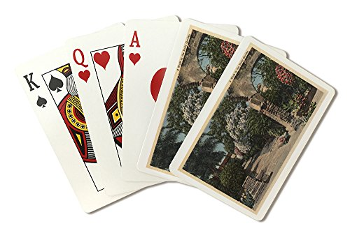 Pathways of the Patio Mission Garden (Playing Card Deck - 52 Card Poker Size with Jokers)