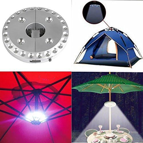 48 LEDs mit Fernbedienung Sonnenschirm-Licht batteriebetrieben lange Batterielebensdauer verstellbare Klemme kabellos zum Aufh/ängen