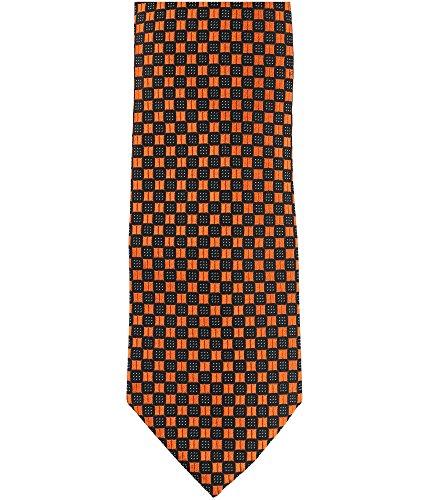 Sean John Mens Highlight Necktie Orange One Size