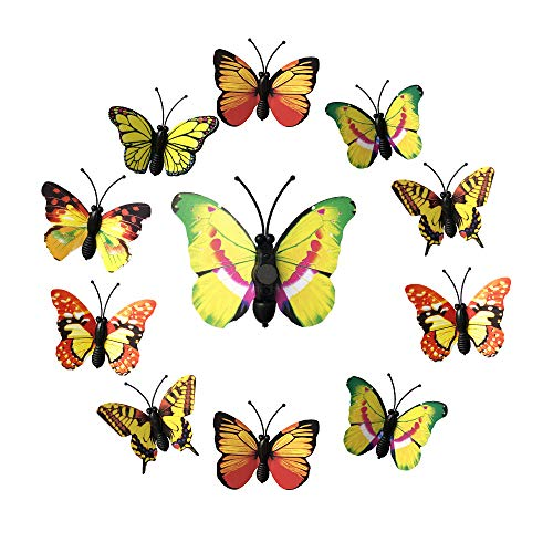 FirstCover Refrigerator Magnets 20 Pcs Decorative Cute Butterfly Fridge Magnets Kitchen Colorful Magnets Office Magnets Fun Magnets Whiteboard Dry Erase Board Magnets (20 Yellow Butterfly) Butterfly Dry Erase Board