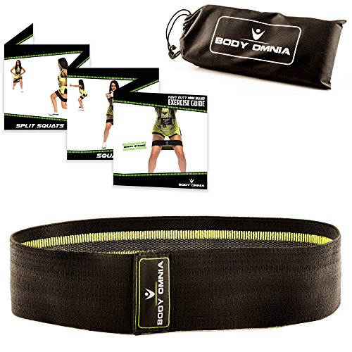 Body Omnia Strong Hip Resistance Circle Band | Heavy Duty Sling Grippy Non-Slip Bands for Glutes and Quads Supertraining | Travel Pouch and Printed Exercise Guide Included plus 10 Workout Plans eBook