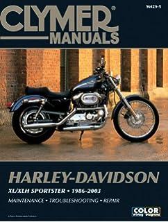 Amazon.com: Clymer Harley-Davidson XL/XLH Sportster (1986-2003 ... on harley-davidson dyna wiring-diagram, harley-davidson touring wiring-diagram, harley-davidson fxr wiring-diagram,