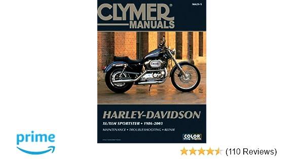 harley davidson xl xlh sportster 1986 2003 clymer motorcycle repair rh amazon com Harley-Davidson Softail 2001 2001 Harley-Davidson FXDL