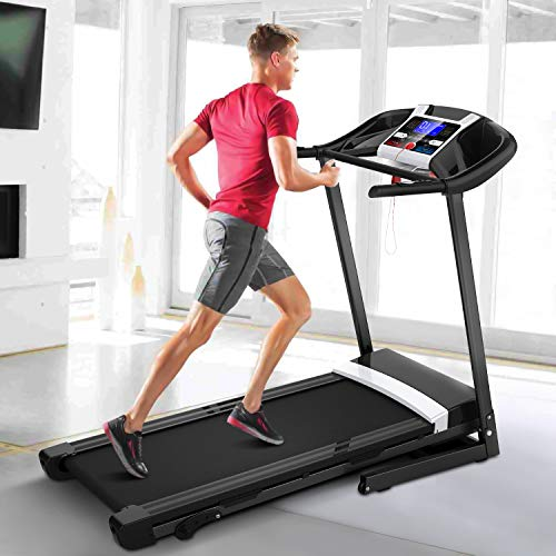 "megatronia Folding Treadmill,Easy Assembly Automatic Incline Treadmill, Motorized Fitness Running Machine with 17"" Wide Tread Belt & LCD Display Perfect for Home"