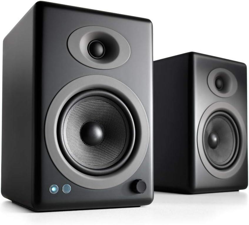 Audioengine A5+ Bookshelf Stereo Speakers- Best Bookshelf Speakers Under $500