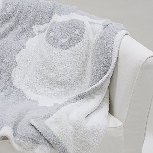 Lambs & Ivy Goodnight Sheep Soft and Cozy Reversible Chenille Baby Blanket -